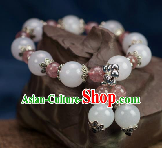 Chinese Traditional Jewelry Accessories Ancient Hanfu Jade Beads Bracelet for Women