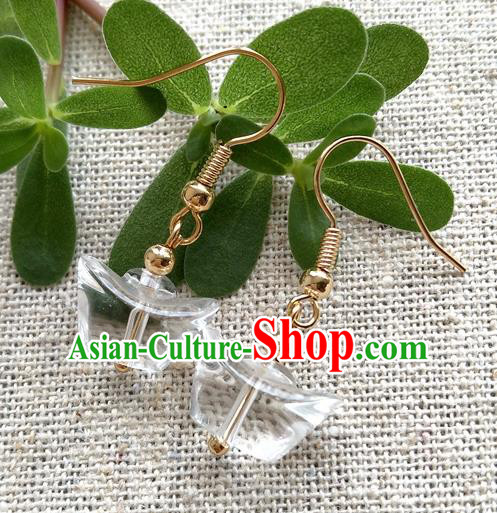 Chinese Traditional Crystal Jewelry Accessories Ancient Hanfu Earrings for Women