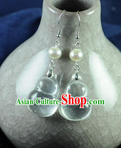 Chinese Traditional Jewelry Accessories Ancient Hanfu Cucurbit Earrings for Women