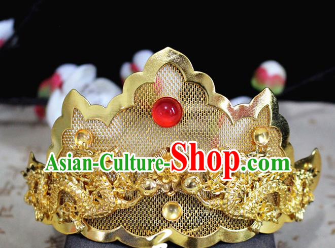 Chinese Classical Hair Accessories Traditional Ancient Hanfu Carving Dragons Hair Coronet Hairpins for Women