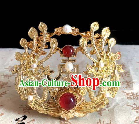 Chinese Classical Hair Accessories Traditional Ancient Hanfu Carving Phoenix Hair Coronet Hairpins for Women
