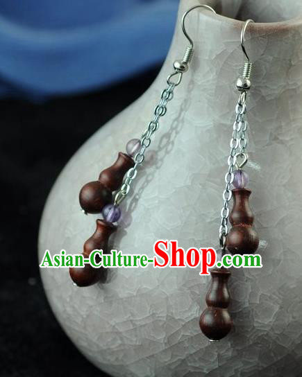 Chinese Traditional Jewelry Accessories Ancient Hanfu Wenge Earrings for Women