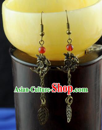Chinese Traditional Ear Jewelry Accessories Ancient Hanfu Earrings for Women