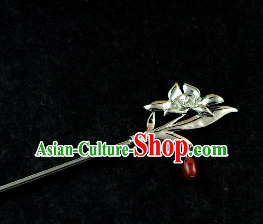 Chinese Traditional Orchid Hair Clip Hair Accessories Ancient Palace Classical Hairpins for Women