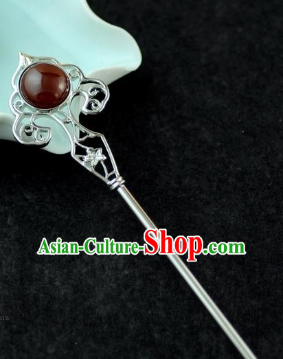 Chinese Traditional Classical Agate Hair Clip Hair Accessories Ancient Palace Hairpins for Women
