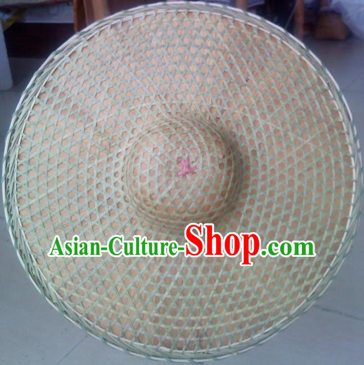 Chinese Traditional Straw Hat Handmade Craft Asian Bamboo Hat