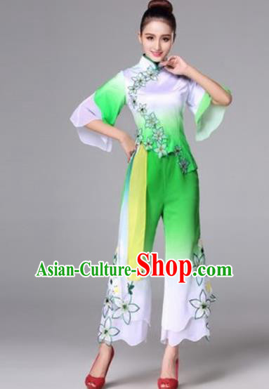 Traditional Chinese Yangko Dance Dress Folk Dance Costume for Women