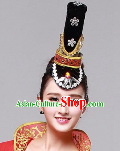 Chinese Traditional Folk Dance Hair Accessories Classical Dance Headwear for Women