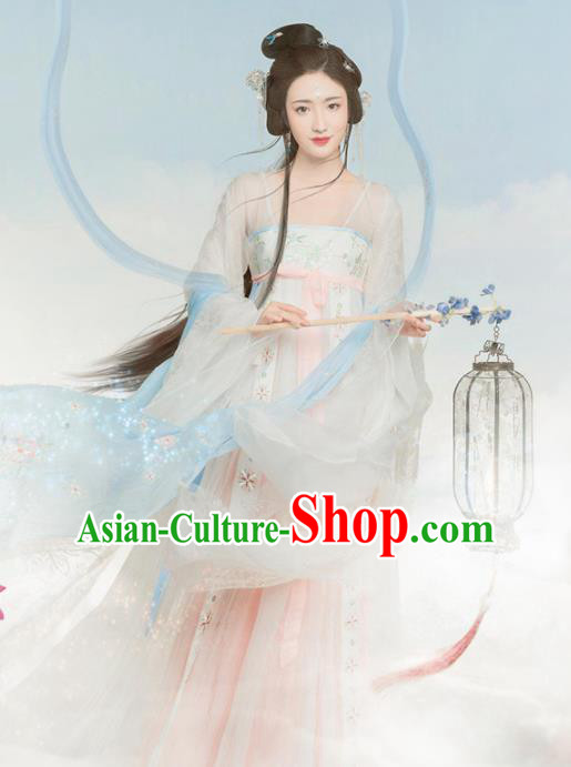 Chinese Traditional Hanfu Dress Ancient Peri Princess Costumes for Women