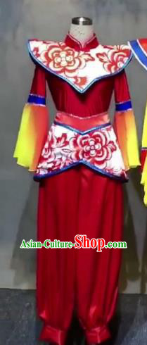 Chinese Traditional Classical Dance Costumes Folk Dance Yanko Dance Clothing for Women
