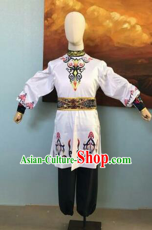 Traditional Chinese Uyghur Nationality Costumes Uigurian Folk Dance Ethnic Clothing for Men