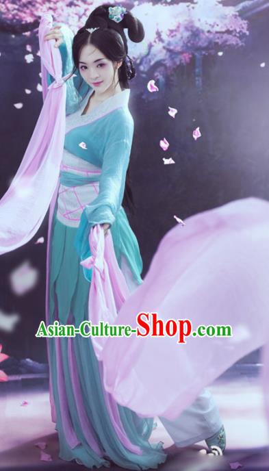 Chinese Ancient Han Dynasty Imperial Consort Zhao Feiyan Hanfu Dress for Women