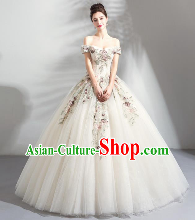 Top Grade Handmade Fancy Wedding Dress Princess Wedding Gown for Women