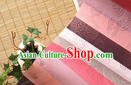 Asian Traditional Korean Fashion Hanbok Brocade Classical Pattern Fabric Silk Fabric Material
