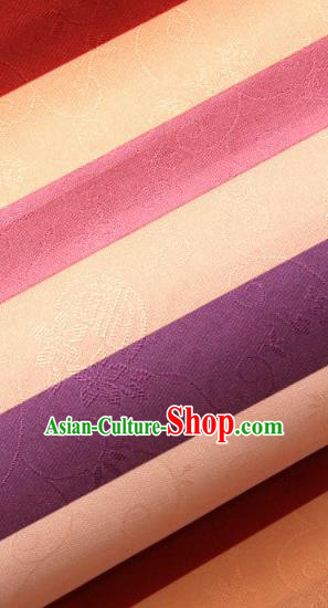 Asian Traditional Korean Hanbok Brocade Fabric Classical Pattern Silk Fabric Material