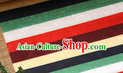 Asian Traditional Korean Hanbok Colorful Brocade Fabric Classical Pattern Silk Fabric Material