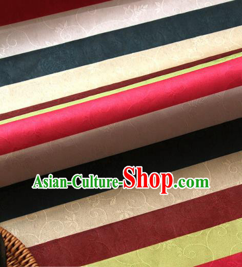 Asian Traditional Korean Colorful Brocade Fabric Hanbok Classical Pattern Silk Fabric Material