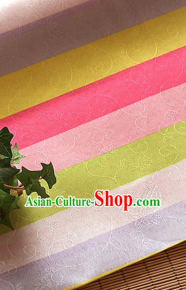 Asian Korean Traditional Fabric Colorful Brocade Fabric Hanbok Classical Pattern Silk Material
