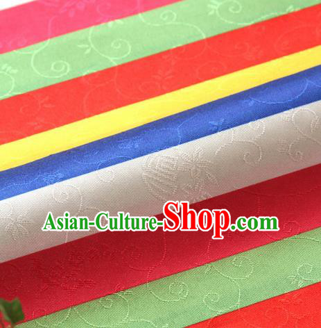 Asian Korean Traditional Fabric Classical Pattern Brocade Fabric Hanbok Colorful Silk Material
