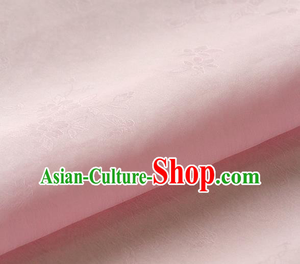 Asian Korean Traditional Light Pink Tajung Fabric Classical Pattern Thin Tough Silk Fabric Hanbok Silk Material