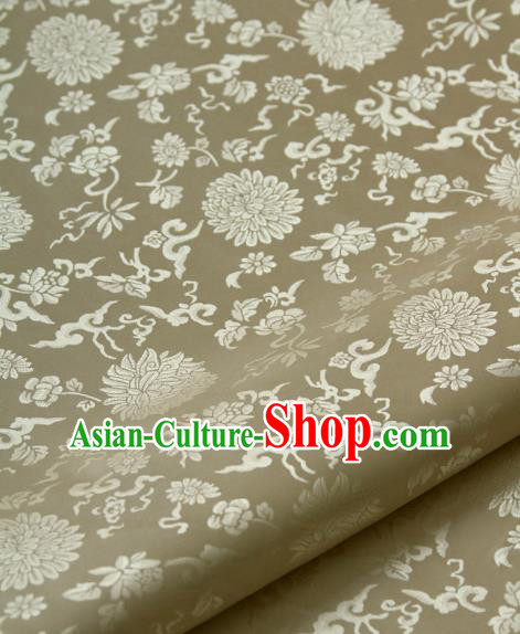 Asian Chinese Traditional Palace Drapery Chinese Royal Pattern Design Brocade Satin Fabric Tang Suit Silk Fabric Material