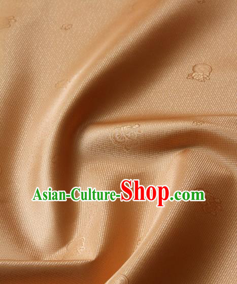 Asian Korean Ancient Costume Drapery Traditional Palace Pattern Bronze Brocade Satin Fabric Silk Fabric Material