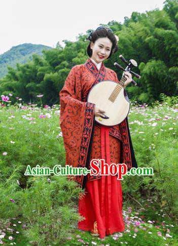 Traditional Chinese Han Dynasty Historical Costumes Ancient Courtesan Hanfu Dress for Women