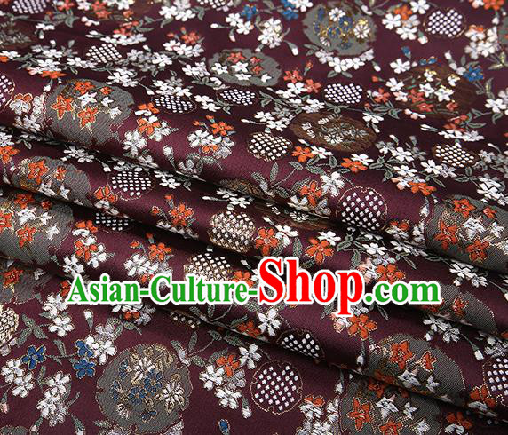 Chinese Traditional Jacquard Satin Fabric Amaranth Brocade Classical Pattern Design Material Drapery