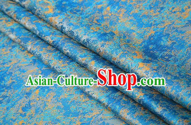 Chinese Traditional Light Blue Brocade Satin Fabric Tang Suit Material Classical Pattern Design Drapery