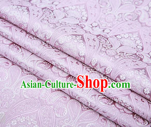 Chinese Traditional Pink Satin Fabric Tang Suit Brocade Classical Loquat Flower Pattern Design Material Drapery