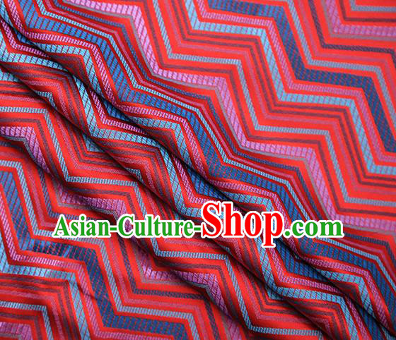 Red Satin Traditional Chinese Tang Suit Brocade Fabric Classical Pattern Design Material Drapery