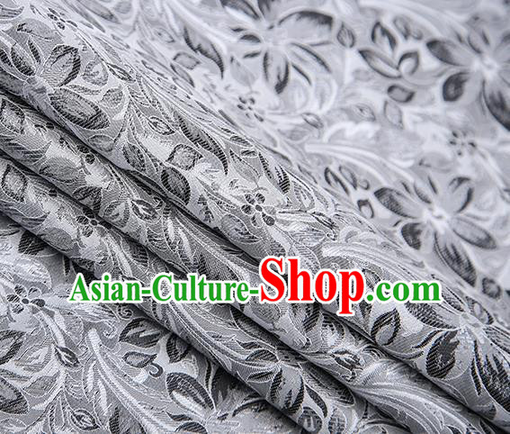 Traditional Chinese Tang Suit Brocade Fabric Classical Petunia Pattern Design Satin Material Drapery