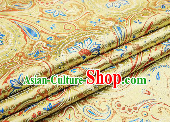 Chinese Traditional Flower Silk Fabric Brocade Embroidered Fabric Dress Material