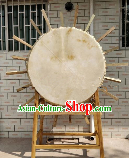 Chinese Traditional Lion Dance Drums Folk Dance Tupan Cowhide Drum