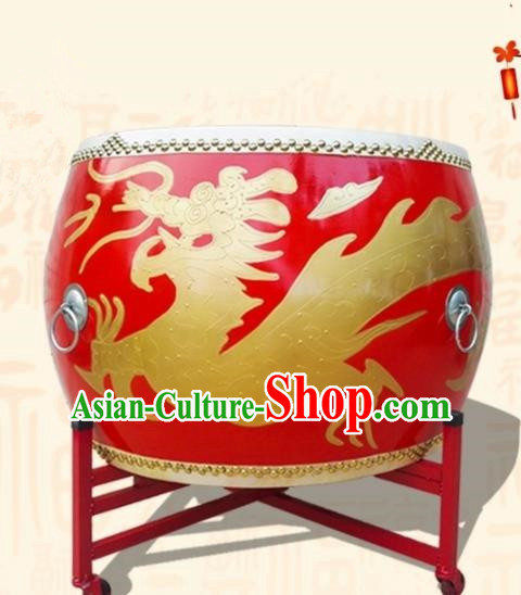 Chinese Traditional Drums Lion Dance Folk Dance Dragon Tupan Cowhide Drum