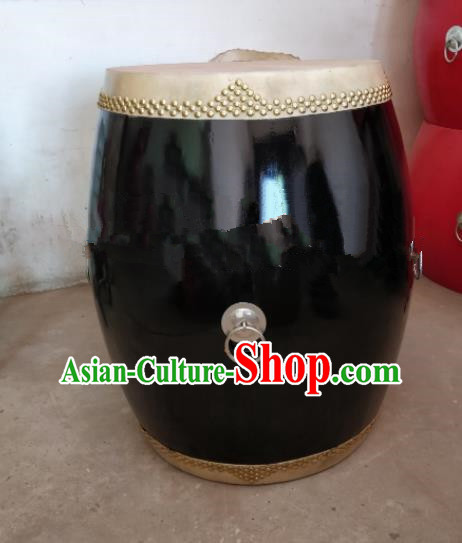 Chinese Traditional Handmade Drums Folk Dance Black Cowhide Drums