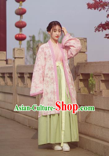 Chinese Traditional Song Dynasty Nobility Lady Hanfu Dress Ancient Palace Princess Costumes for Women