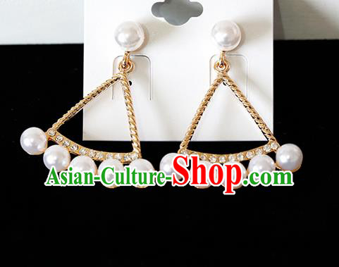 Top Grade Handmade Triangle Earrings Bride Jewelry Accessories for Women
