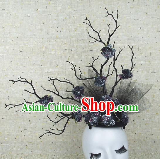 Top Grade Handmade Hair Accessories Halloween Top Hat Cosplay Headwear for Women