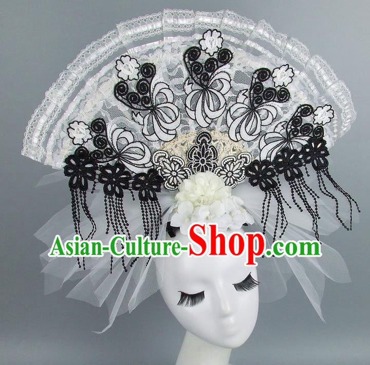 Top Grade Handmade Chinese Lace Palace Hair Clasp Traditional Hair Accessories Headdress for Women