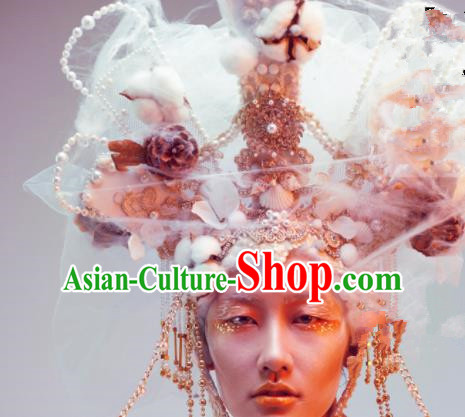 Top Grade Halloween Catwalks Headdress Brazilian Carnival Queen Hair Accessories for Women