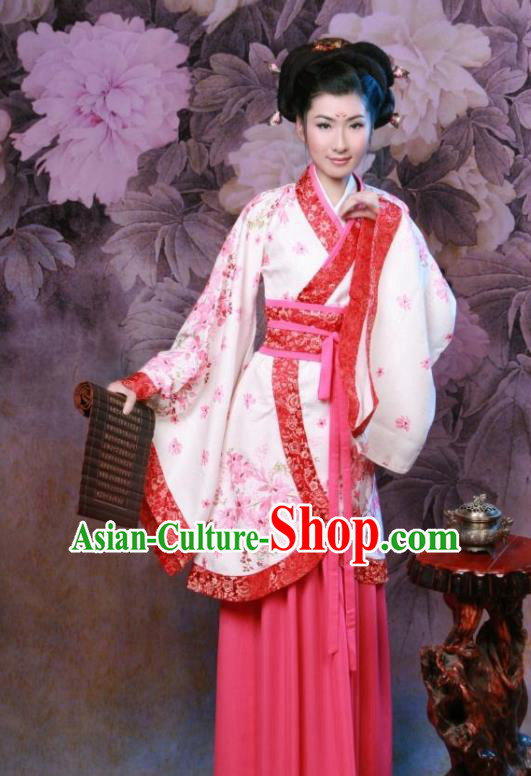 Chinese Ancient Nobility Lady Costumes Han Dynasty Palace Princess Hanfu Dress for Women