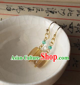 Asian Chinese Traditional Jewelry Accessories Ancient Hanfu Ceregat Earrings for Women