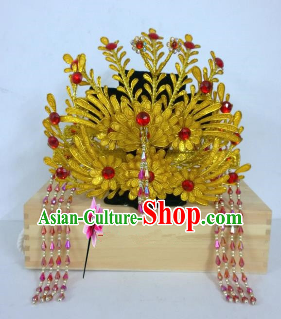 Chinese Classical Beijing Opera Hair Accessories Traditional Ancient Queen Phoenix Coronet for Women