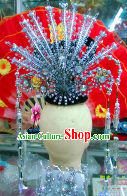 Chinese Classical Hair Accessories Traditional Ancient Beijing Opera Phoenix Coronet for Women