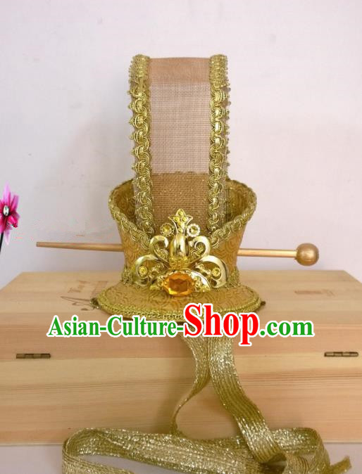 Chinese Traditional Hanfu Headdress Ancient Bridegroom Tuinga Hairdo Crown for Men