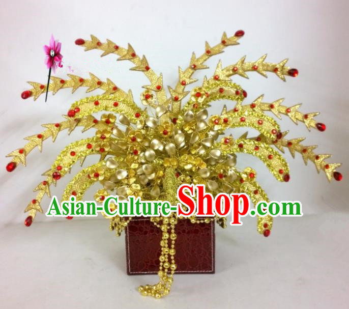 Chinese Classical Hair Accessories Traditional Ancient Tang Dynasty Imperial Consort Phoenix Coronet for Women