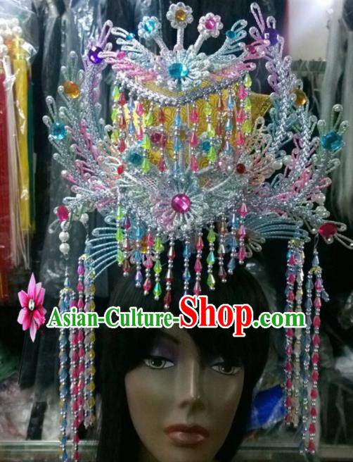Chinese Classical Princess Hair Accessories Traditional Ancient Beijing Opera Phoenix Coronet for Women