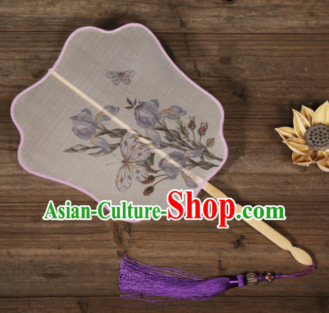 Traditional Chinese Crafts Palace Fans Hand Painting Fans Ancient Silk Fan for Women