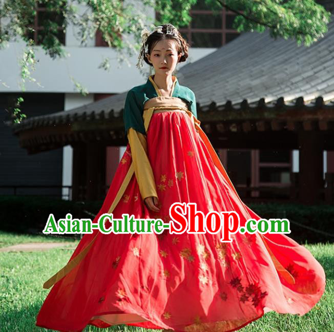 Chinese Ancient Drama Costumes Traditional Tang Dynasty Princess Hanfu Dress for Women